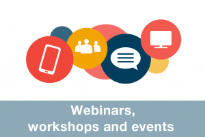 Webinars, workshops and events icon
