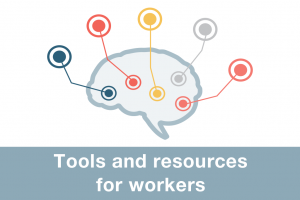 Tools and resources for workers icon
