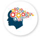 Workplace Psychological Health & Safety icon, head with gears